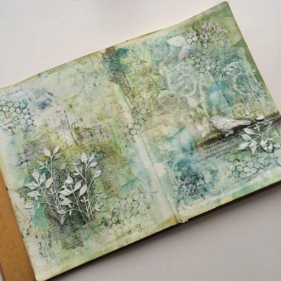 Ruth's art journal http://argeum.blogspot.co.uk/2015/11/frosty-green.html: