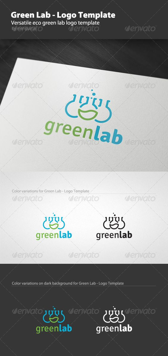 Green Lab  - Logo Design Template Vector #logotype Download it here: http://graphicriver.net/item/green-lab-logo-template/1595642?s_rank=633?ref=nexion