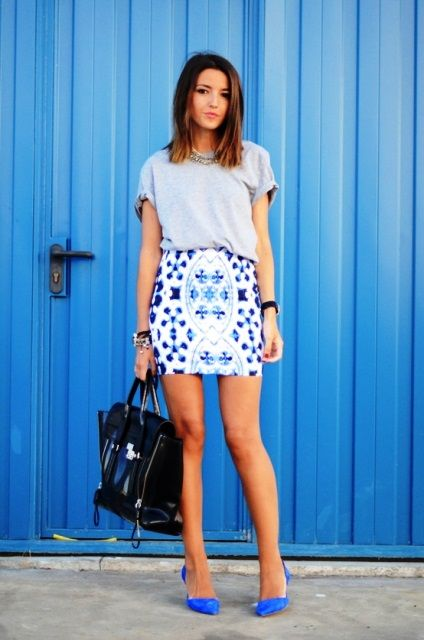 Summer Blue | blue skirt