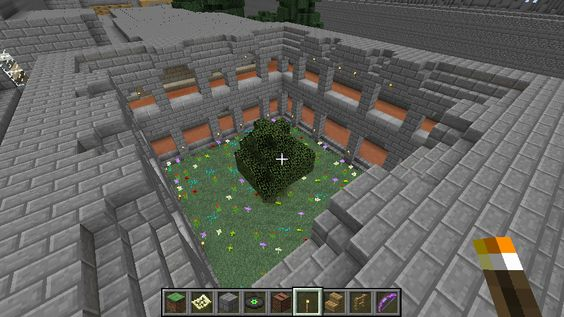 Sky castle - 6 And one of the interior gardens: