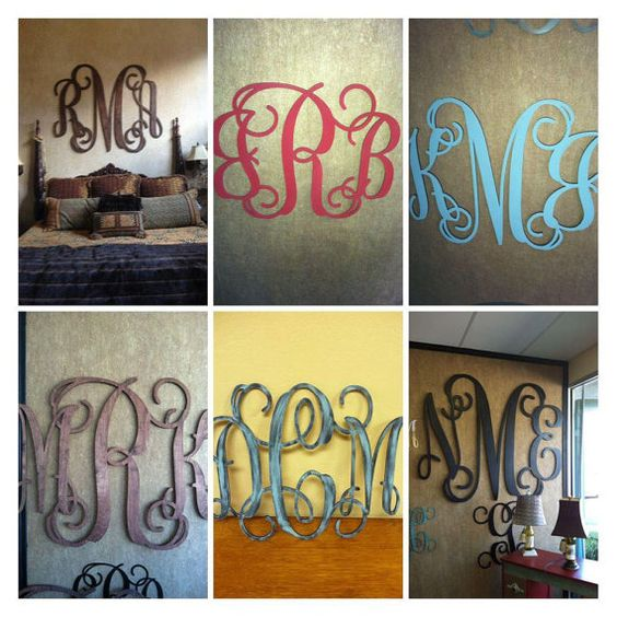 Wood Monogram Wall Decor by Weeziez on Etsy, $45.00