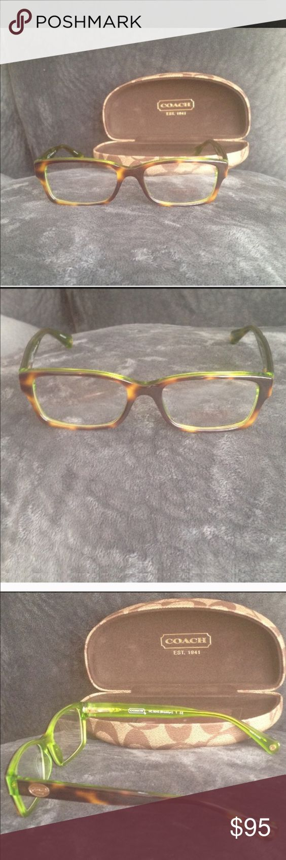 Coach glasses Pretty Coach frames. These have never been used. They have the testing lenses in them. Size 50 16 135 Coach Accessories Glasses
