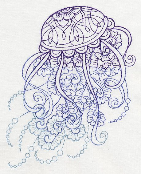 Jellyfish Urban Threads And Embroidery On Pinterest