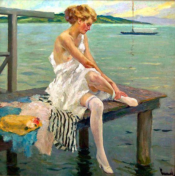 Edward Cucuel - On a Pier