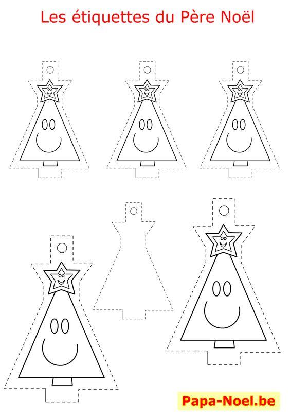 Bricolage enfant noel etiquettes a imprimer gratuites pour - Bricolage de noel a imprimer ...