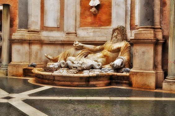 "Colossal statue restored as Oceanus: ""Marforio"" | Flickr - Photo Sharing!"