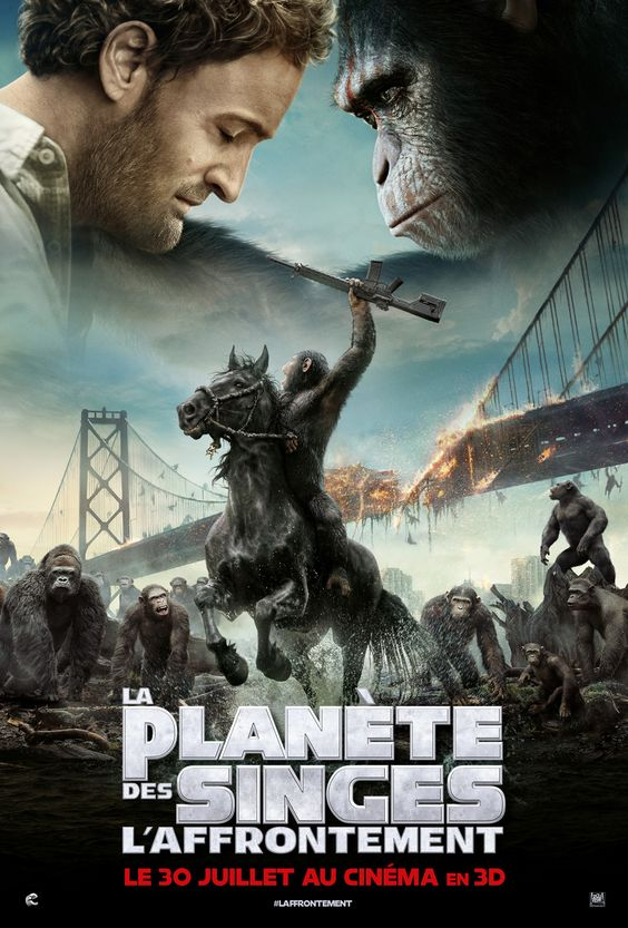 La Planète des singes : l'affrontement est un film de Matt Reeves avec Andy Serkis, Jason Clarke, Gary Oldman