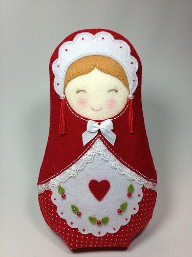 Felt matryoshka nesting dolls pinterest ornamentos - Ornamentos de navidad ...