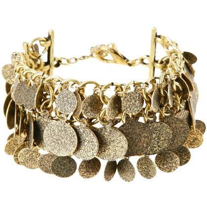 Schönes Armband mit Goldplättchen lässt sich super zu einem Outfit im Etho Style kombinieren ♥ 12,95€ ♥ Hier kaufen: http://stylefru.it/s31380