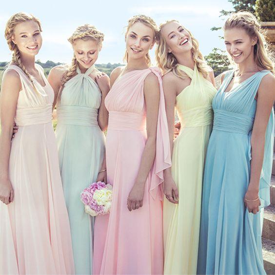 Pastel bridesmaids                                                                                                                                                      More