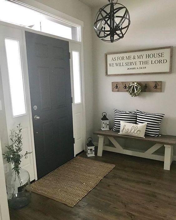 Front Entryway Ideas Plus Helpful Tips To Give Your Guests A Great First Impression Of Your H Bauernhaus Wohnzimmer Wohnzimmer Ideen Gemutlich Rustikales Haus