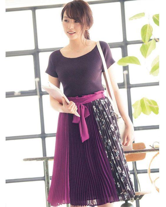 紫コーデの新内眞衣
