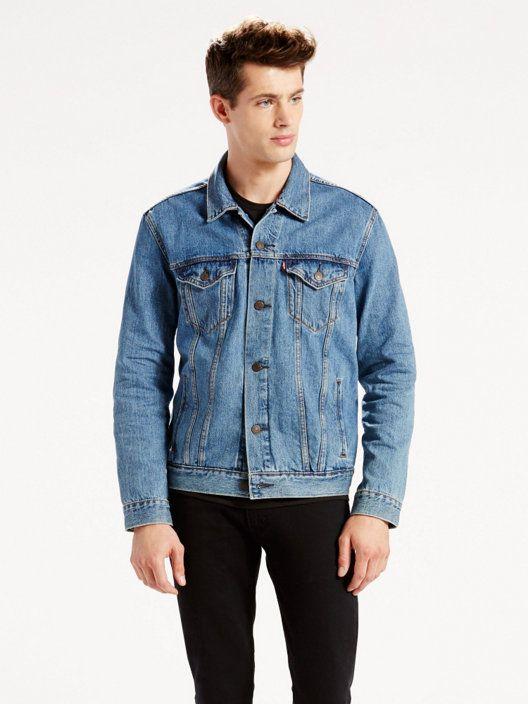 Trucker Jacket Medium Wash Levi S Us Denim Jacket Men Outerwear Jackets Jackets