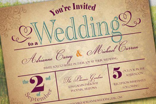 Partecipazioni vintage per il tuo matrimonio [Foto]