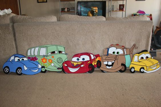 1 Disney Cars Wood Decor Lightning by MountainViewCreation