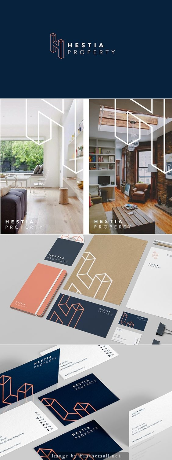 Hestia Property - Beautiful integration of the logo on the imagery without effecting the content.