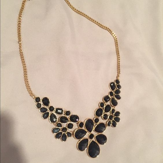 Charming Charlie black/gold necklace Beautiful black and gold necklace. Never worn. Charming Charlie Jewelry Necklaces
