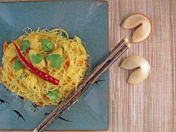 Singapore rice noodles, inspired by Padma