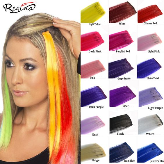 50cm Hairpieces Straight Clip Hair Extensions 30 Colors Synthetic