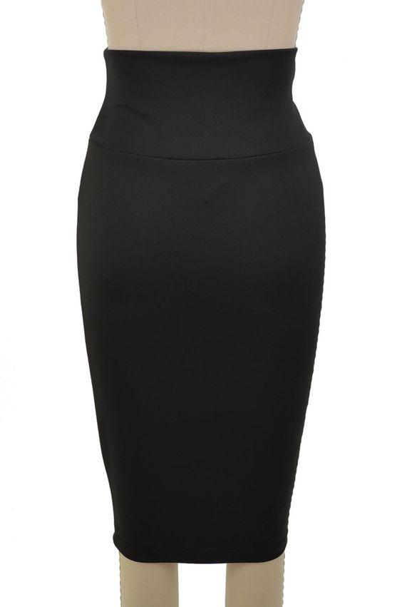 stylish staple high waist pencil skirt - black. Stretchy waist $22 (excellent price)