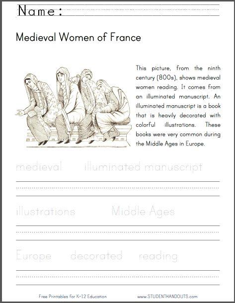 worksheets medieval and frances o 39 connor on pinterest. Black Bedroom Furniture Sets. Home Design Ideas