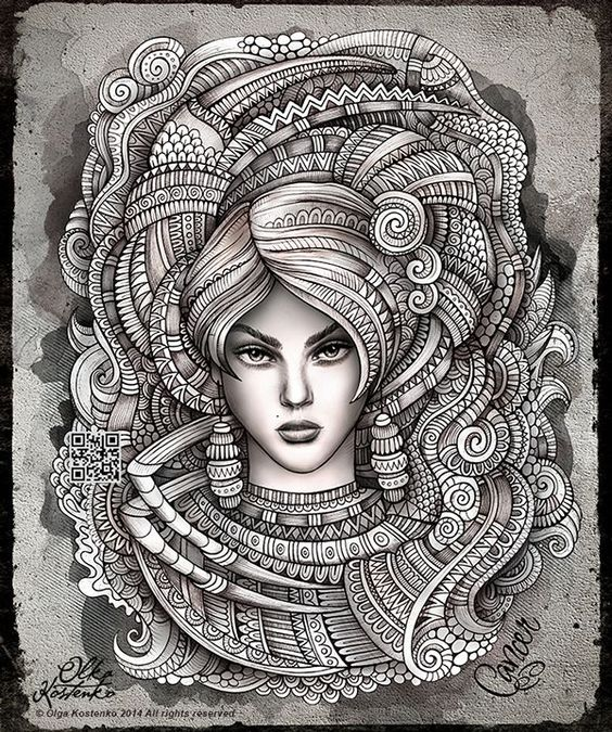 Zodiac ~ Cancer by Olka Kostenko on Behance: