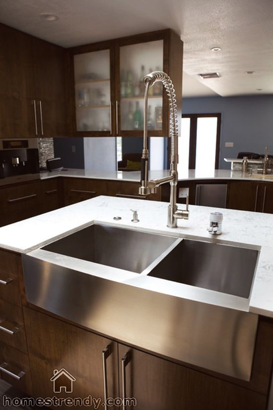 Delightful Stainless Steel Farmhouse Sink   Modern   Kitchen Sinks   Los Angeles   By  Lavello Sinks  Hmmm Easier To Keep Clean Than Typical Ceramic Farmhouse Sink ?