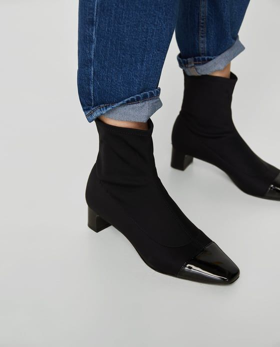 STRETCH HIGH HEEL ANKLE BOOTS from Zara
