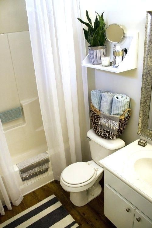 Small Apartment Bathroom Ideas Small Rental Bathroom Makeover 2 Not A Passing Fancy Mor Rental Bathroom Makeover Small Rental Bathroom Small Apartment Bathroom