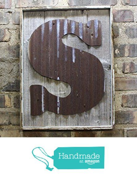 Rusty Tin Letters on Rustic wood back Monogram rustic letter, large letters, Home Decor, Initials, rustic wedding decor from Custom Cut Decor http://www.amazon.com/dp/B01DLC0NIM/ref=hnd_sw_r_pi_dp_NGWbxb0NW3Y65 #handmadeatamazon