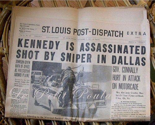 Kennedy Assassination - St Louis Post-Dispatch Newspaper ...
