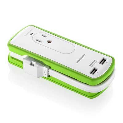 Add 2 Outlet Mini Portable Travel Surge Protector