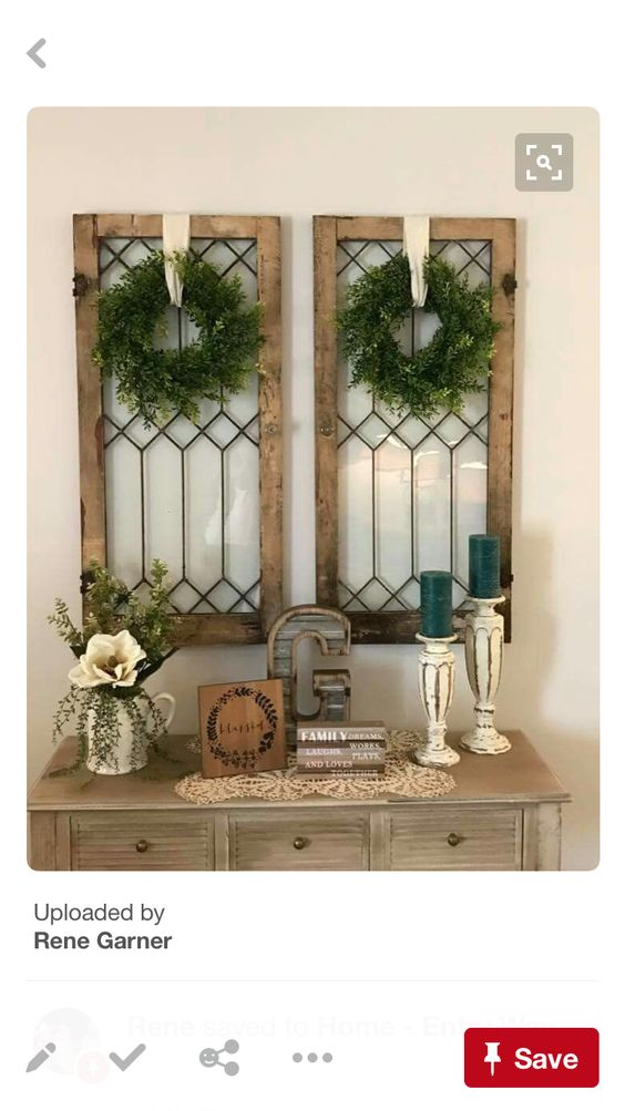 Want to hang things like this on either side of our mantle