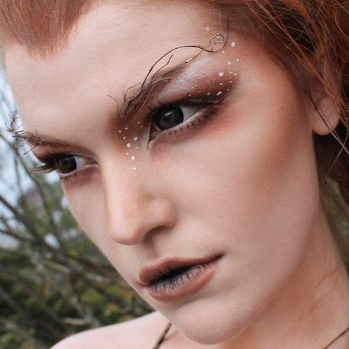 Woodland Fairy Makeup | Woodland Fairy Makeup Love the white highlights and the brows!