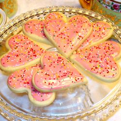 Making some Valentines Sugar Cookies tonight!  This recipe is goodl, but I add in 1 tsp of Vanilla, dash of cinnamon and 3/4 cup of sugar to make them AMAZING!