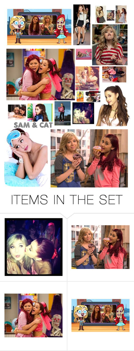 """I <3 Sam & Cat"" by bunheads-hottie ❤ liked on Polyvore featuring art"