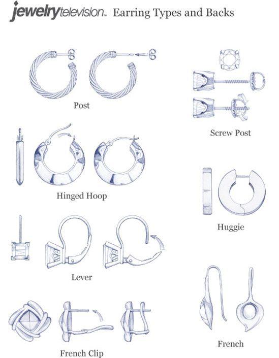 earring clasp back types earrings earrings