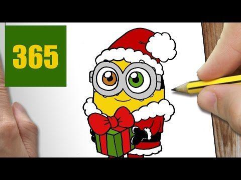 Comment Dessiner Minion De Noël Kawaii étape Par étape