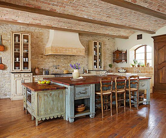 Treat yourself 16 tuscan kitchens to take you abroad for Kitchen cabinets you put together