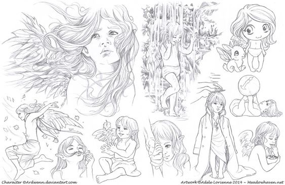 Elerus Sketchpage Commission 19-20 by Saimain on deviantART