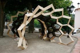 Un pavillon expérimental en liège réalisé dans les Pyrénées-Orientales