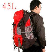 New arrival 2013 professional large capacity 45L Mountaineering Waterproof bag camping sport travel shoulders bags backpack men