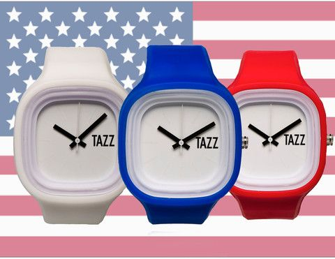Stars and Stripes Bundle - Buy this bundle of 3 interchangeable TAZZ Transformer Watches with your choice of a black or white face for only $49 at TAZZwatches.com #whatsyourcolor