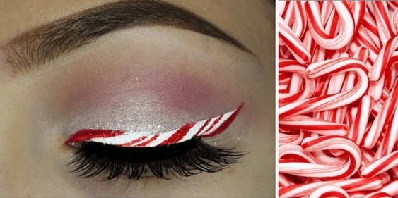 Candy Cane Eyeliner May Be The Most Fun Holiday Beauty Trend—Here's How To Do It