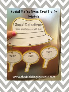 Free craftivity from The Dabbling Speechie to accompany The Social Detectives from Social Thinking.