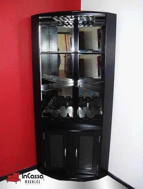 Esquinero cantina mod dublin medidas esquina de 60cm x for Bar de madera para sala