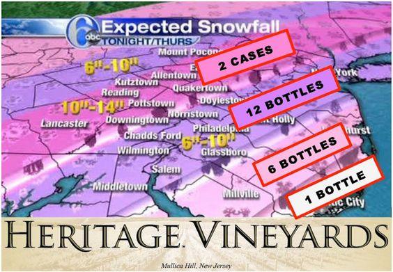 Heritage Vineyards Wine Snowfall Chart | News | Philadelphia Magazine