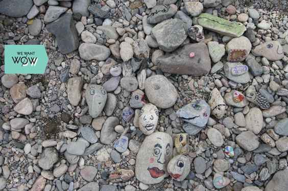 DIY project: perfect when you are sitting at a nice French river. Bring some crayons or markers, see what image you see in the shape of a stone and create it.