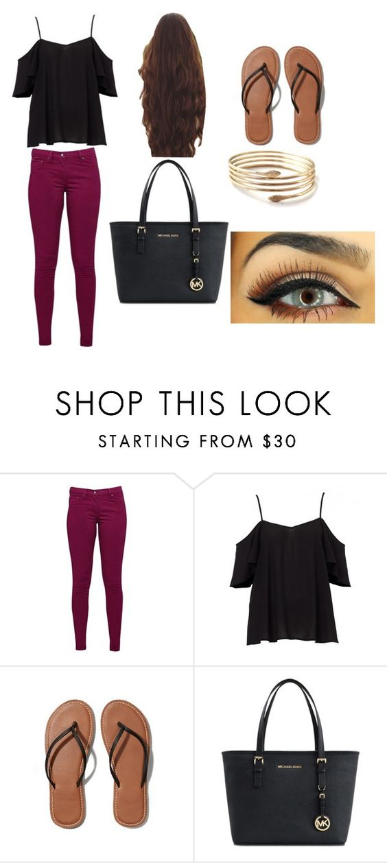 """Untitled #4"" by deviniamalone ❤ liked on Polyvore featuring Great Plains, Abercrombie & Fitch and Michael Kors"