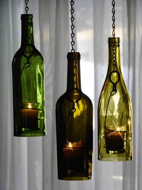 Pinterest the world s catalog of ideas for How to make candle holders out of wine bottles